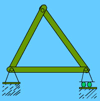 Plain truss